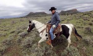 Interior Secretary Ryan Zinke rides a horse in the Bears Ears National Monument near Blanding, Utah.