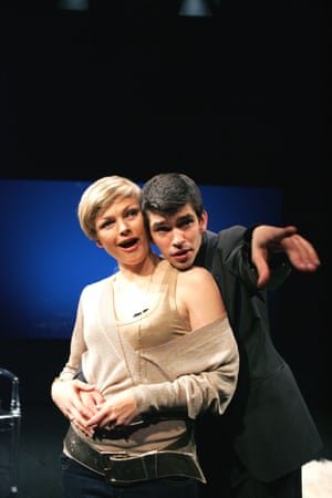 Maxine Peake and Ben Whishaw in Leaves of Glass, Soho theatre, London, 2007.