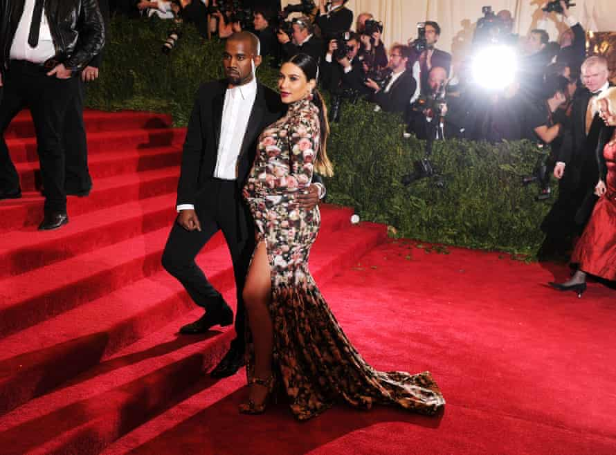 Kim Kardashian And Kanye West at the 2013 Met gala.