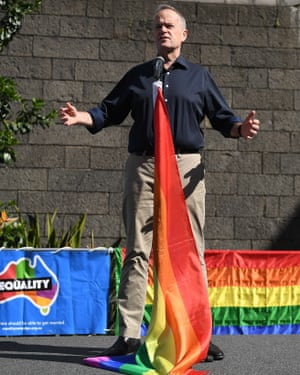 Bill Shorten at a marriage equality rally