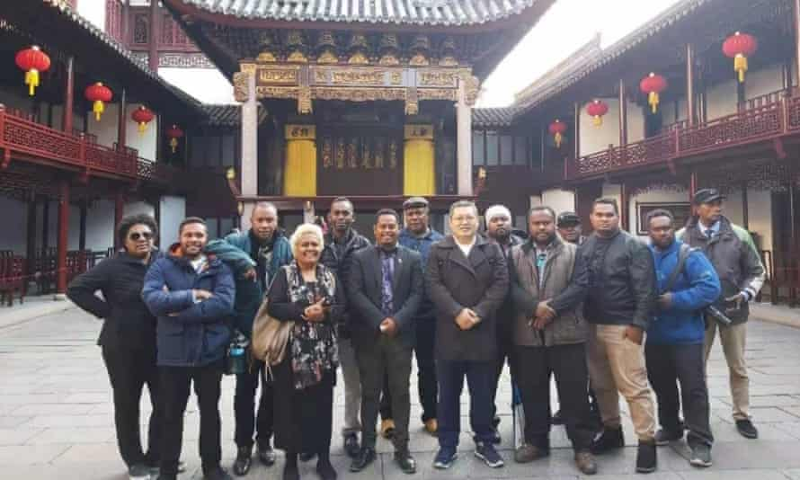 Dorothy Wickham (fourth from left) with a delegation of Solomon Islands' journalists and media representatives on their tour of China in December.