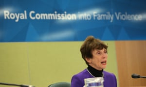Commissioner Marcia Neave opens the commission hearings in Melbourne on Monday.