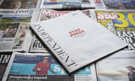 The Independent newspaper has gone online only.