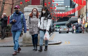 Some members of the Chinese community reported feeling uncomfortable wearing face masks as people stared at them.