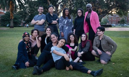 Participants of StoryCasters, an initiative of Diversity Arts Australia in partnership with Sweatshop.