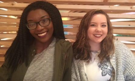 Kourtni Douglas, 20, and Hannah Wadsworth, 19, in Birmingham.