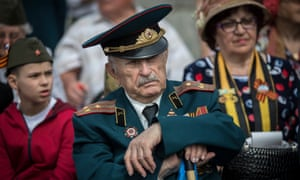 Veterans of World War 2 seen at the Victory Day parade.