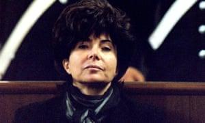 Reggiani in court in 1998, her face impassive