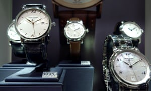 watches in a shop window