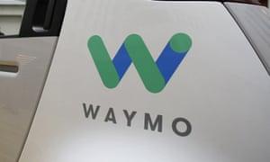 Waymo logo on side of vehicle