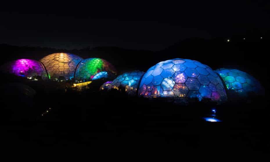 Bright spots: -Photography by Emily Whitfield-Wicks Christmas lights, Eden Project.