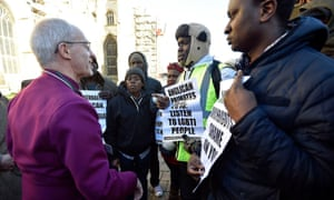 The Archbishop of Canterbury, Justin Welby, meets LGBTI rights campaigners in January.