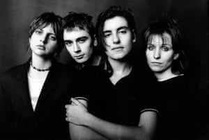 Elastica, Frischmann second right: androgynous glamour.