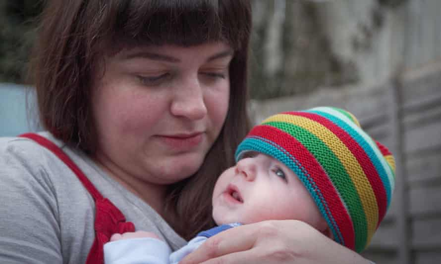 Rosie, 39, from London with her baby