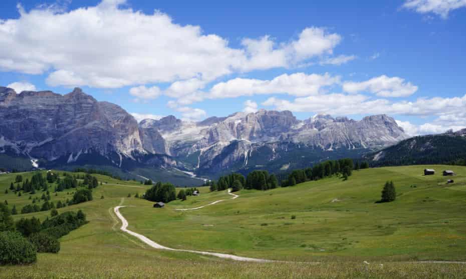 the Dolomites near the village of Corvara in the Alta Badia valley.