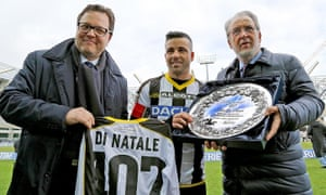 Giampaolo Pozzo, right, also owns the Italian club Udinese and Granada in Spain