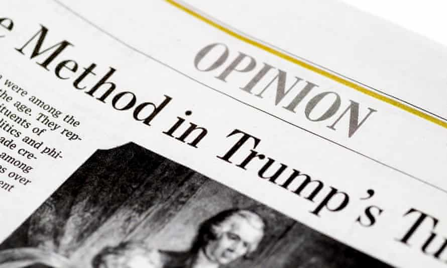 The Wall Street Journal's opinion section in February of 2017.