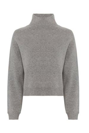 Grey funnel neck jumper