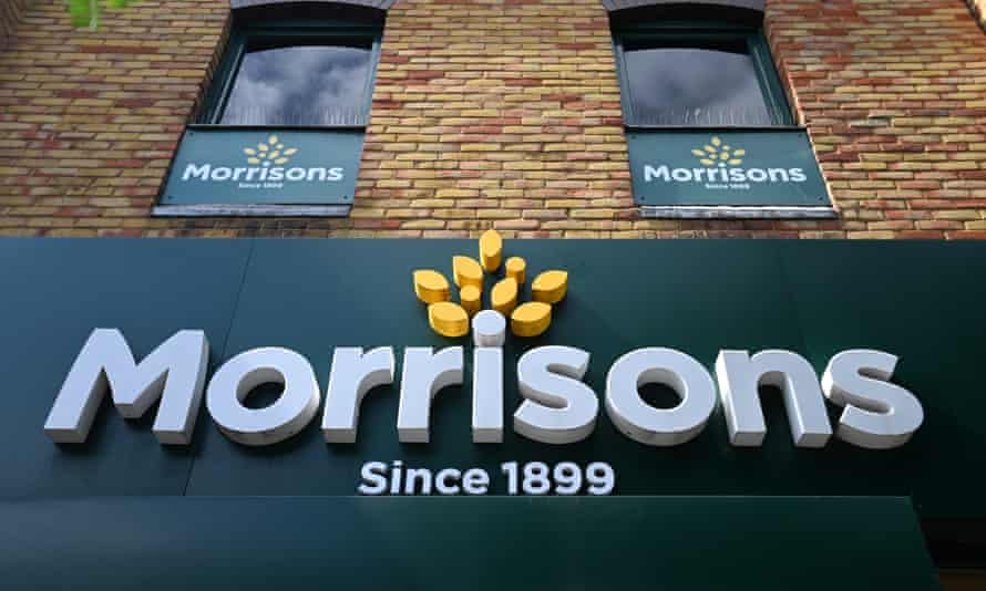 A Morrisons supermarket in London, with the tagline under the sign reading 'since 1899'