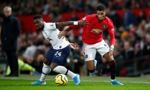 Marcus Rashford, battling here with Serge Aurier, left, was among the players to impress against Spurs.