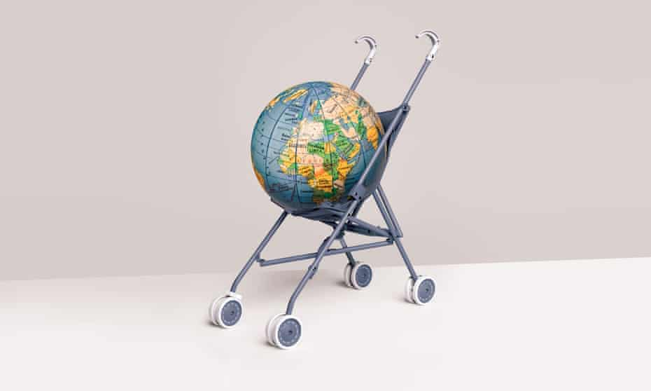 globe in a buggy