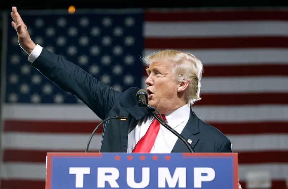 Donald Trump at a campaign rally in Phoenix, Arizona.