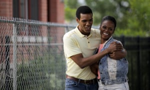 The summer of 89 … Parker Sawyers and Tika Sumpter as Barack and Michelle Obama.