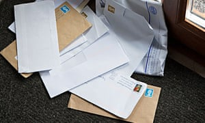 Letters delivered to house