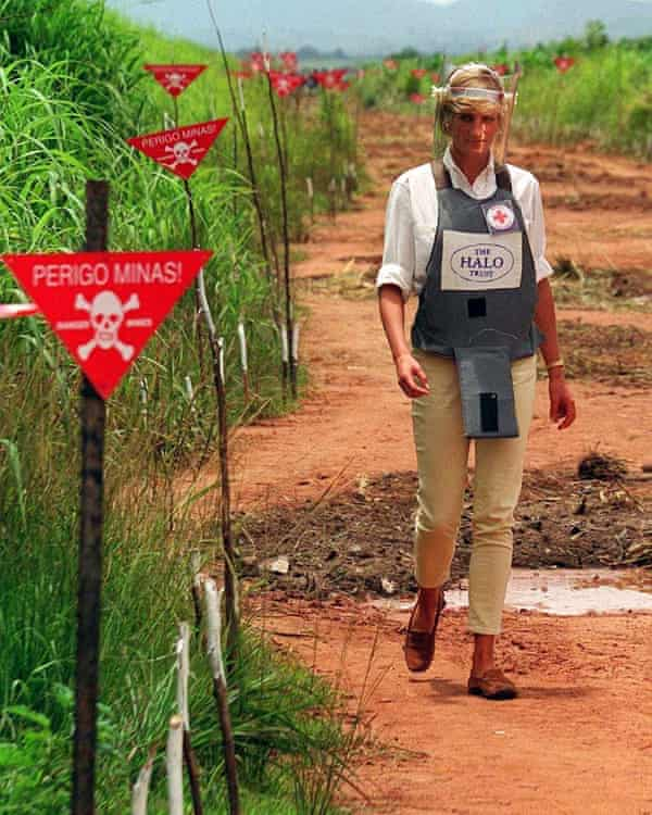 Diana, Princess of Wales, famously walked through a minefield during her visit to Angola in 1997