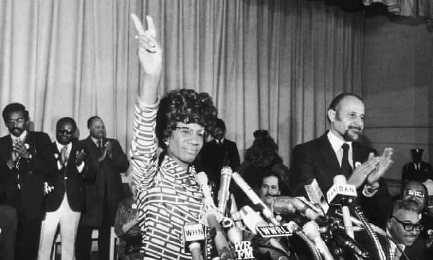 Shirley Chisholm announces her entry for Democratic nomination for the presidency in 1972.