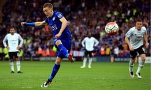 Jamie Vardy misses from the penalty spot