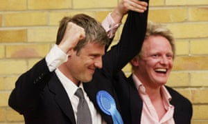Goldsmith celebrates winning the seat for Richmond Park in 2010.