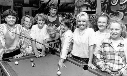 Youngsters wait to try their hand at pool in the Bransholme Youth Centre.