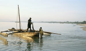 Fishermen near Bagamoyo. In 10 years the sleepy fishing villages along the coast here could be razed to create space for Africa's largest port
