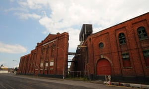 Grimsby docks, once thriving but now almost deserted