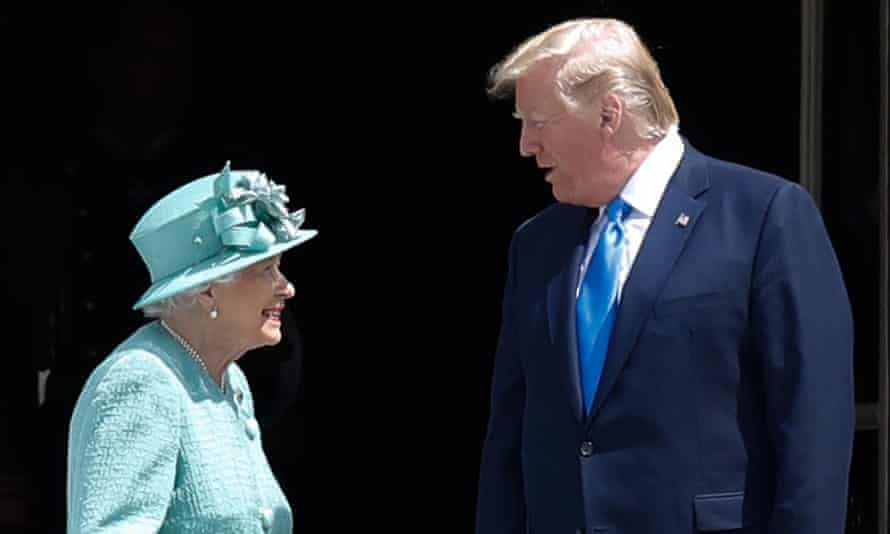 The Queen with Donald Trump during his visit to London in June.