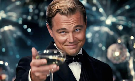 Leonardo DiCaprio in a scene from the 2013 film adaptation of The Great Gatsby.
