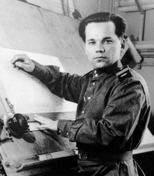 Mikhail Kalashnikov at work 1949
