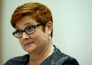 Defence Minister Marise Payne gives evidence before the Standing Committee on Foreign Affairs, Defence and Trade in Parliament House Canberra this afternoon, Thursday 3rd March 2016.