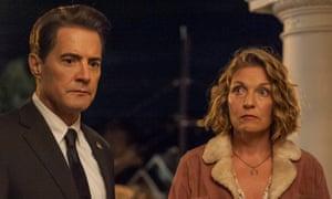 Kyle MacLachlan and Sheryl Lee in Twin Peaks: The Return