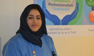 Areema Nasreen in February 2019, shortly after she qualified as a nurse and began working on the hospital's Acute Medical Unit.