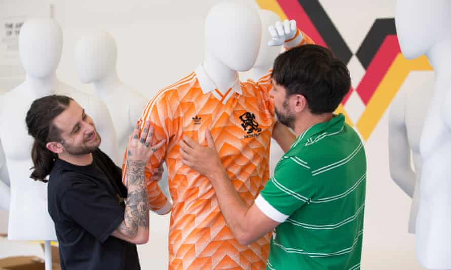 Neal Heard (right) adds Holland's Euro 1988 shirt to his 'Iconic Eleven'.