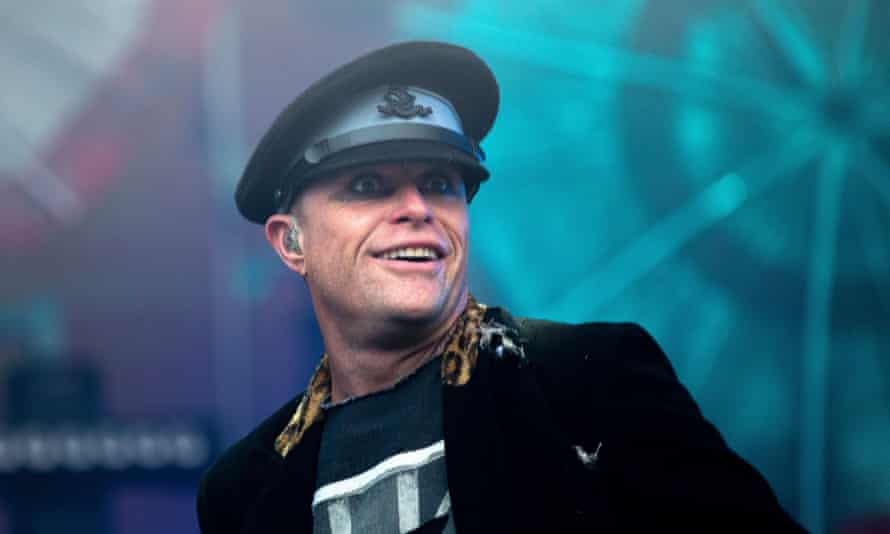 Keith Flint of the Prodigy performing at T in the Park festival, 2015.