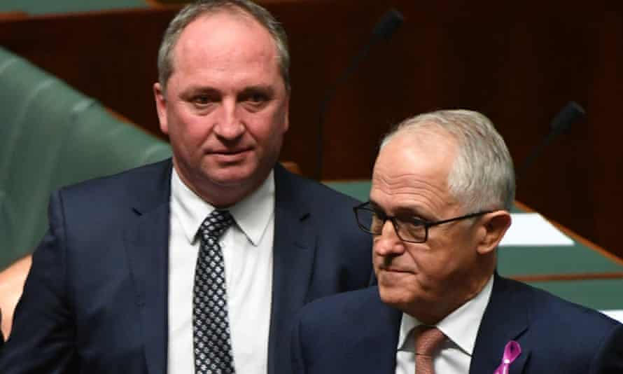 Barnaby Joyce and Malcolm Turnbull in parliament last week.