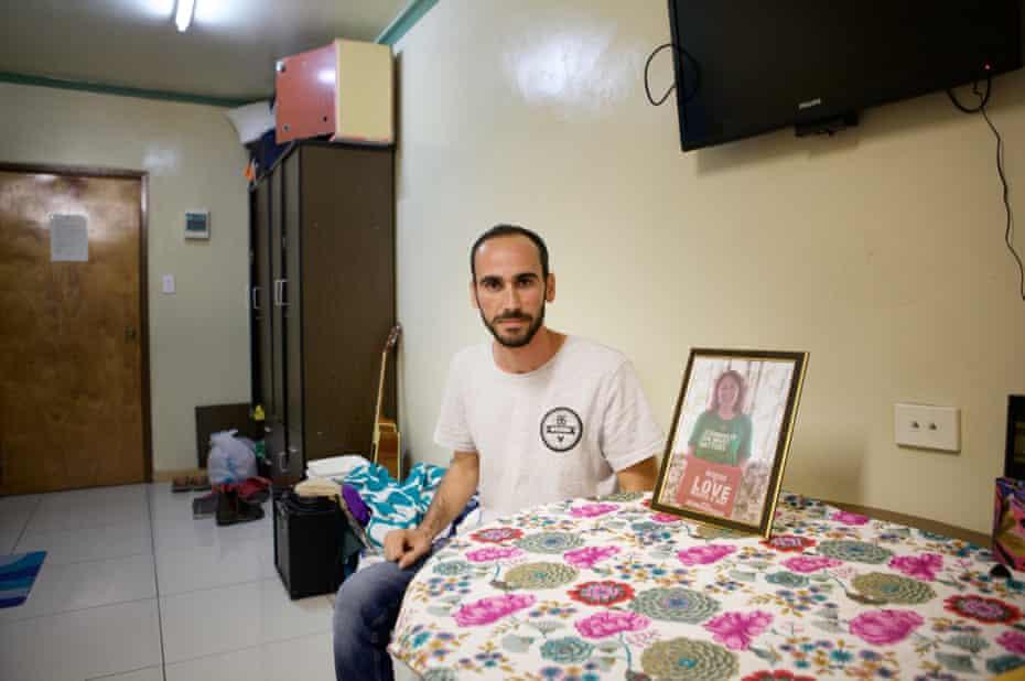 Mesafa Azimi is a Kurdish refugee who spent six years on Manus Island, Papua New Guinea.