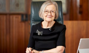 Proving girly swots have power … Lady Hale, head of the supreme court.