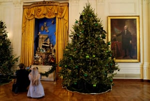 The nativity scene in the east room – it is the 50th year the nativity is on display in the White House