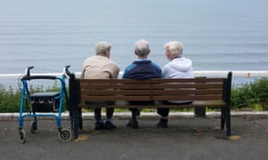 Older people on a bench