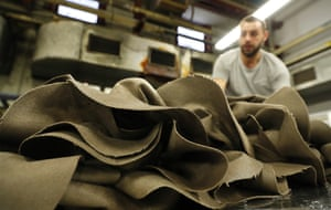 A pile of hats is seen in Borsalino's hat factory, in Spinetta Marengo