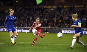 Jordan Nobbs of Arsenal shoots.
